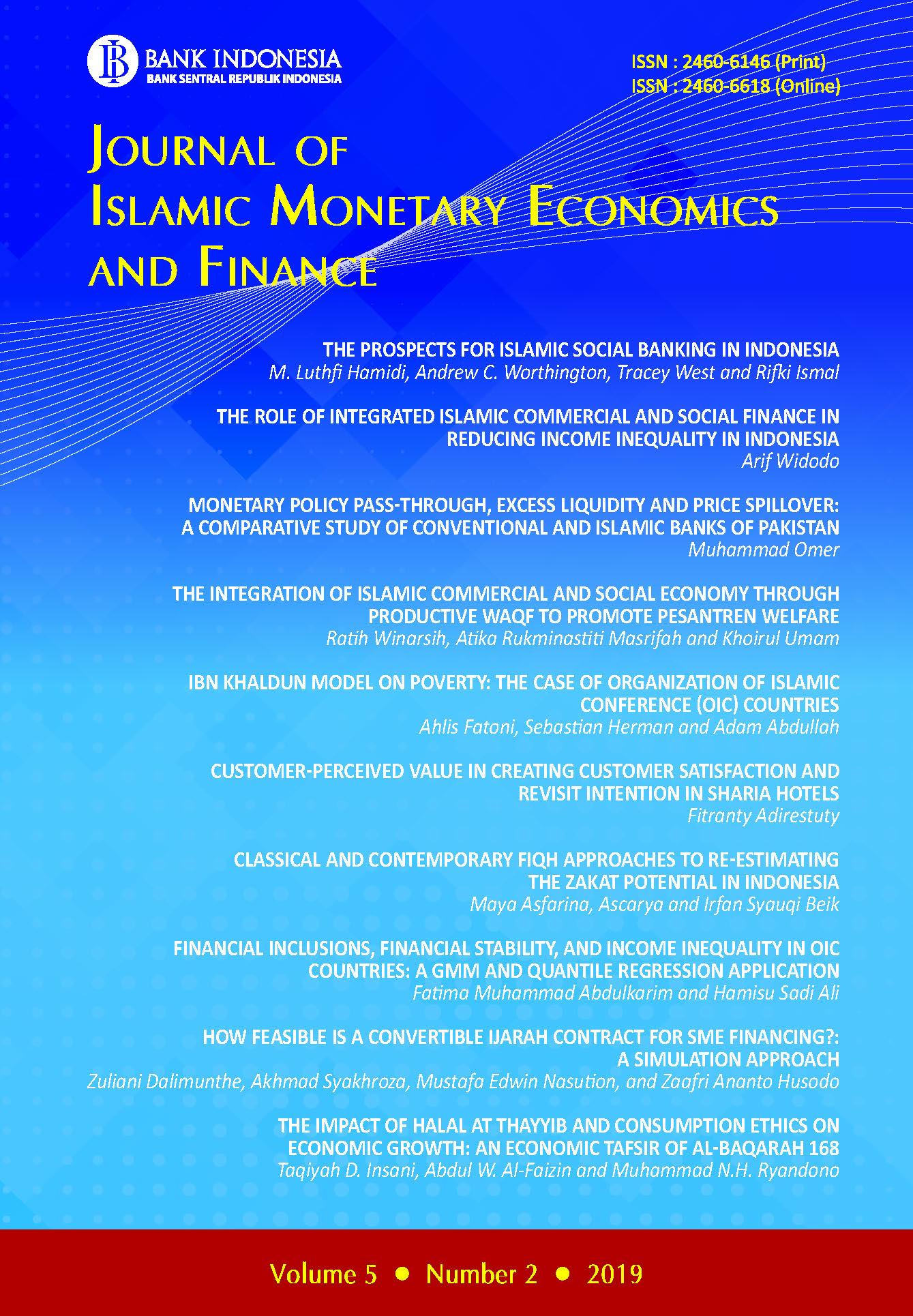 Journal of Islamic Monetary Economics and Finance